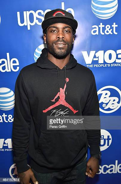 Player Michael Vick attends Bronner Bros 2015 MidWinter International Beauty Show at Georgia World Congress Center on February 22 2015 in Atlanta...