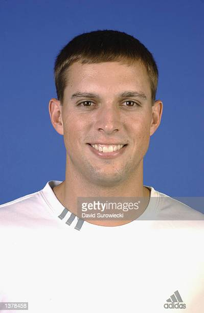 ATP player Mike Bryan poses for a headshot during the US Open August 26 2002 at the USTA National Tennis Center in Flushing Meadows Corona Park in...