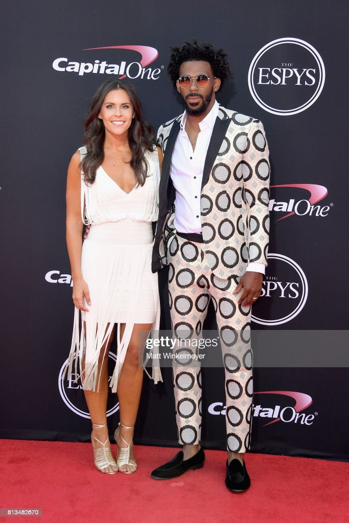 NBA player Mike Conley Jr. (R) and Mary Conley attend The 2017 ESPYS at Microsoft Theater on July 12, 2017 in Los Angeles, California.
