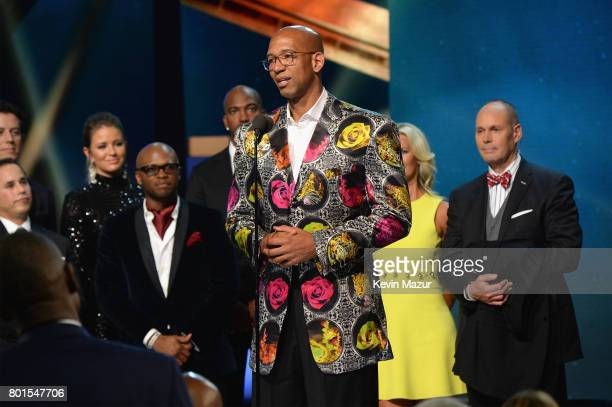 NBA player Monty Williams receives the Sager Strong Award onstage during the 2017 NBA Awards Live on TNT on June 26 2017 in New York New York...