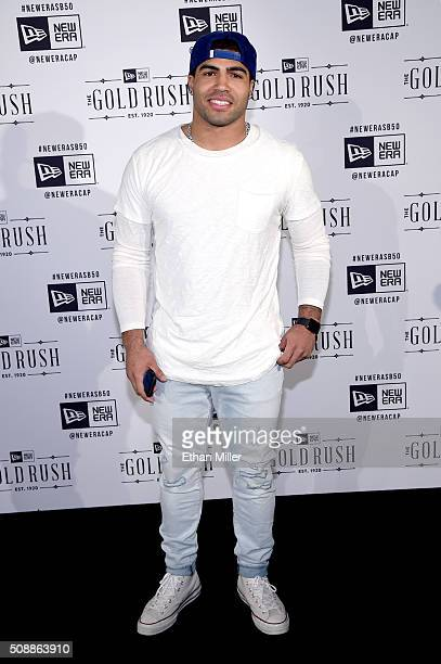 NFL player Mychal Kendricks attends the New Era Super Bowl party at The Battery on February 6 2016 in San Francisco California