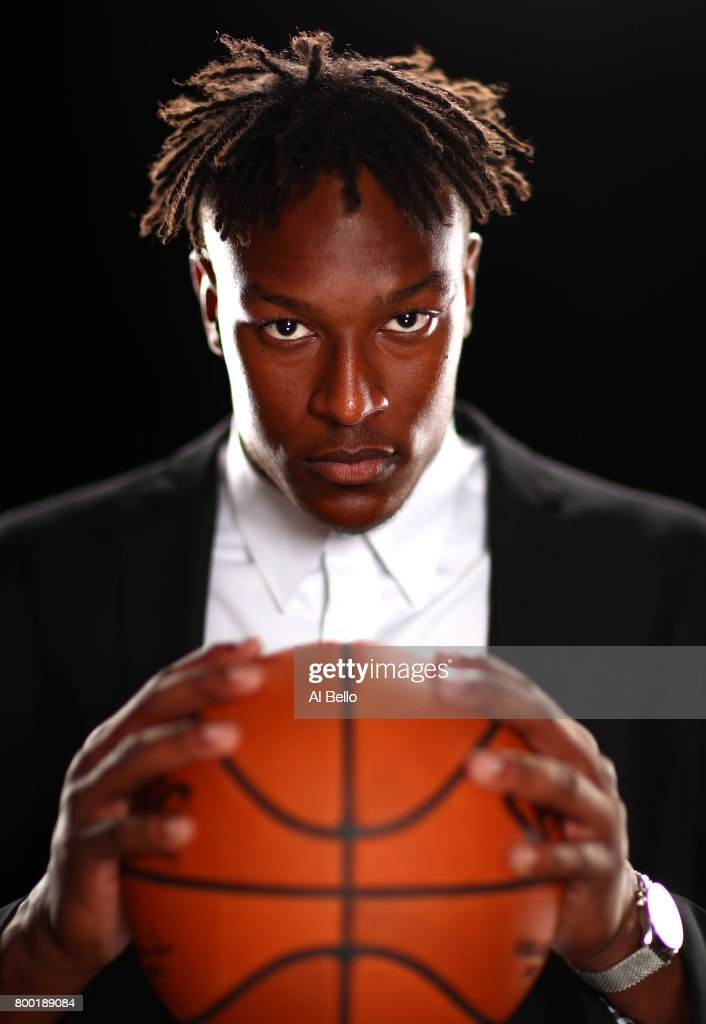 NBA player Myles Turner poses for a portrait at NBPA Headquarters on June 23, 2017 in New York City.
