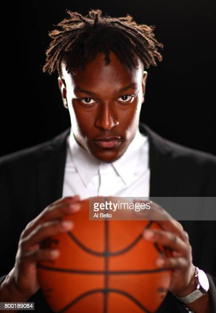 NBA player Myles Turner poses for a portrait at NBPA Headquarters on June 23 2017 in New York City