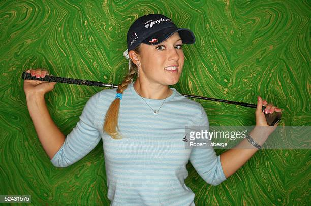 LPGA player Natalie Gulbis poses for a portrait prior to the start of the Safeway International at Superstition Mountain Golf and Country Club on...