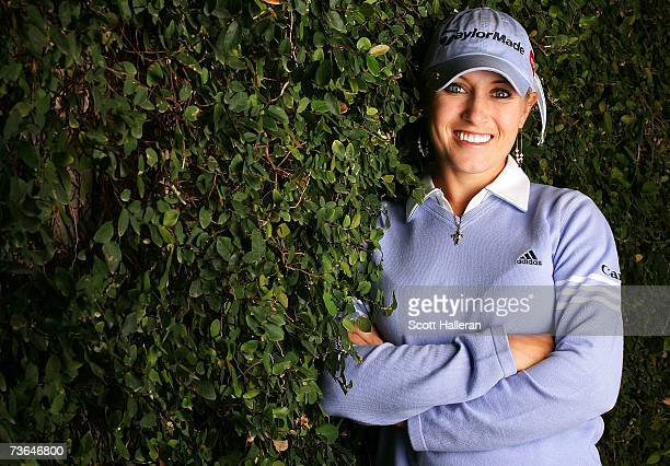 LPGA player Natalie Gulbis poses prior to the start of the Safeway International at the Superstition Mountain Golf and Country Club March 20 2007 in...