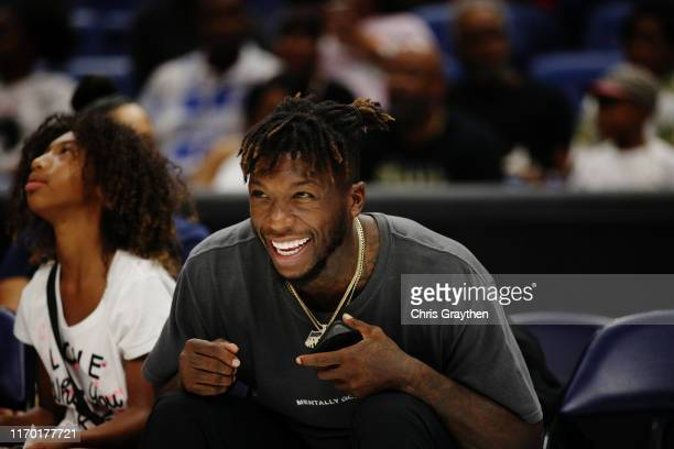 Player Nate Robinson looks on during the BIG3 Playoffs at Smoothie King Center on August 25, 2019 in New Orleans, Louisiana.
