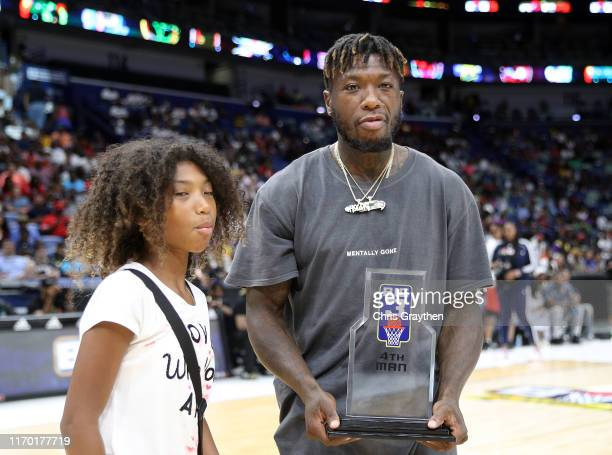 Player Nate Robinson wins the award for 4th Man during the BIG3 Playoffs at Smoothie King Center on August 25, 2019 in New Orleans, Louisiana.