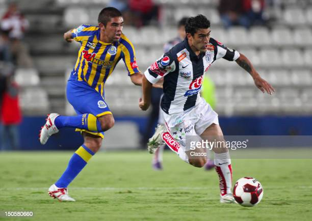 Player Nery Castillo of Pachuca fights for the ball during a match between Pachuca and La Piedad as part of the Copa MX 2012 on August 21 2012 in...