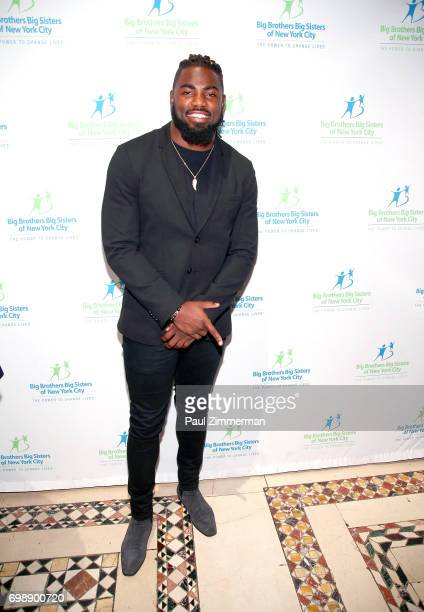NFL player New York Giants Landon Collins attends the 18th Annual Big Brothers Big Sisters Of NYC Casino Jazz Night at Cipriani 42nd Street on June...