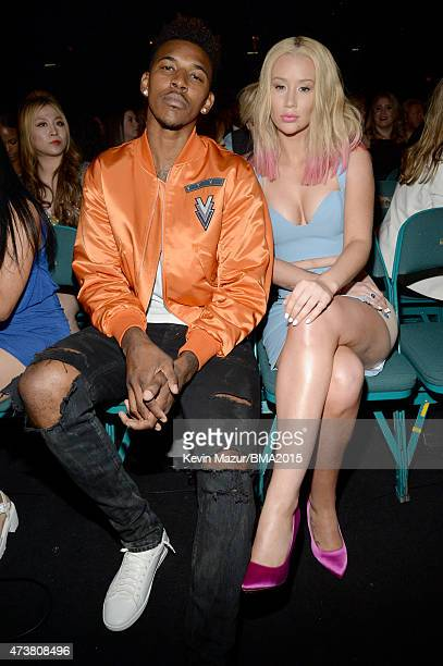 NBA player Nick Young and recording artist Iggy Azalea attend the 2015 Billboard Music Awards at MGM Grand Garden Arena on May 17 2015 in Las Vegas...