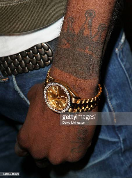 NBA player Nick Young attends the official celebration of Magic Johnson's involvment with the Los Angeles Dodgers at RnB Live on May 30 2012 in...