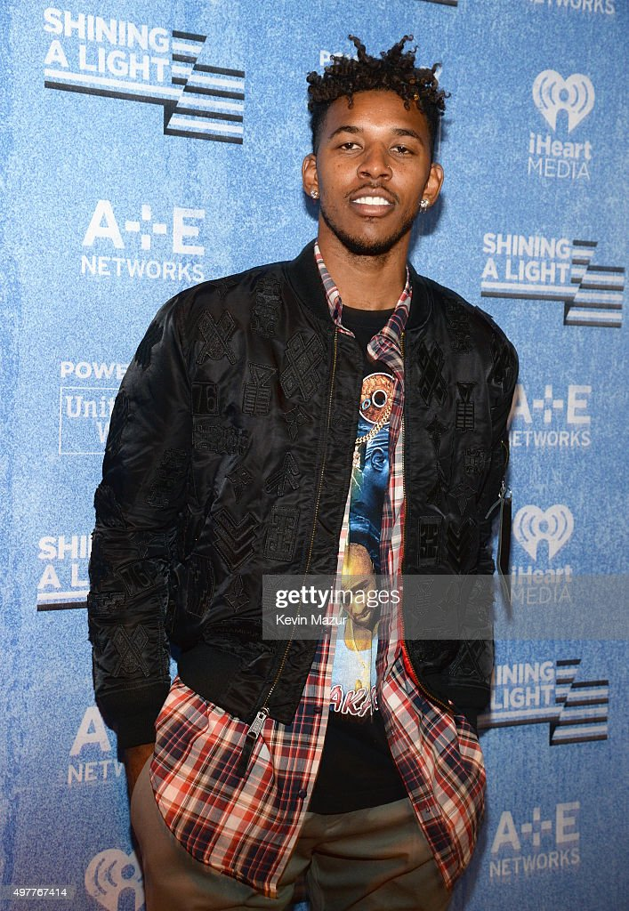 NBA player Nick Young of the Los Angeles Lakers attends A+E Networks 'Shining A Light' concert at The Shrine Auditorium on November 18, 2015 in Los Angeles, California.