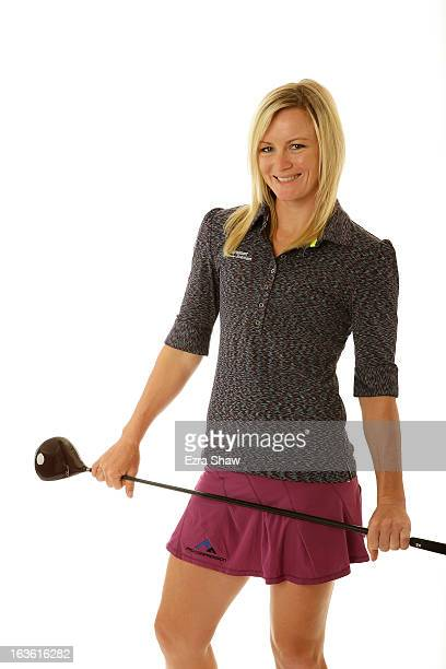 LPGA player Nicole Smith poses for a portrait prior to the start of the RR Donnelley Founders Cup at the JW Marriott Desert Ridge Resort on March 13...