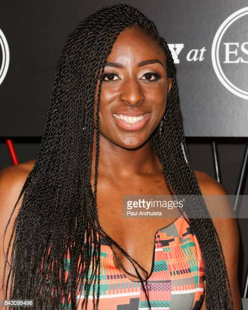 Player Nneka Ogwumike attends the ESPN Magazine Body Issue preESPYS party at Avalon Hollywood on July 11 2017 in Los Angeles California