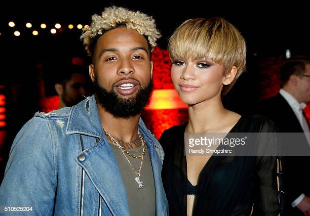 NFL player Odell Beckham Jr and singer Zendaya attends the Republic Records Grammy Celebration presented by Chromecast Audio at Hyde Sunset Kitchen...