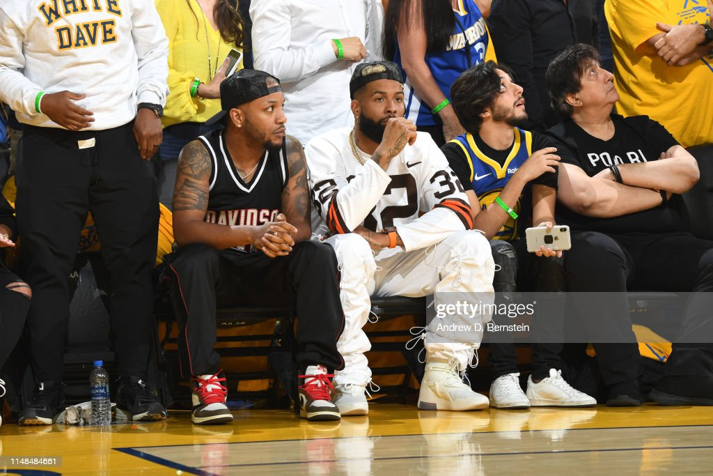 best service 984ec 760ea NFL player, Odell Beckham Jr. watches the game court side ...