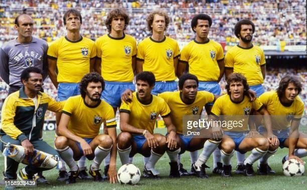 Player of Brazil during the World Cup match between Argentina and Brazil in Stade de Saria at Barcelona on the 02 july 1982. In the pics: Waldir...