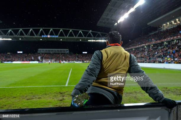 Player of Chivas Guadalajara is watching the game during the 2018 CONCACAF Champions League Final match between Toronto FC and CD Chivas Guadalajara...