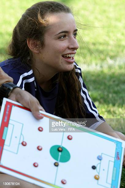 Player of Colegio del Sol before the FIFA Women's Football Initiative on October 27 2011 in Asuncion Paraguay