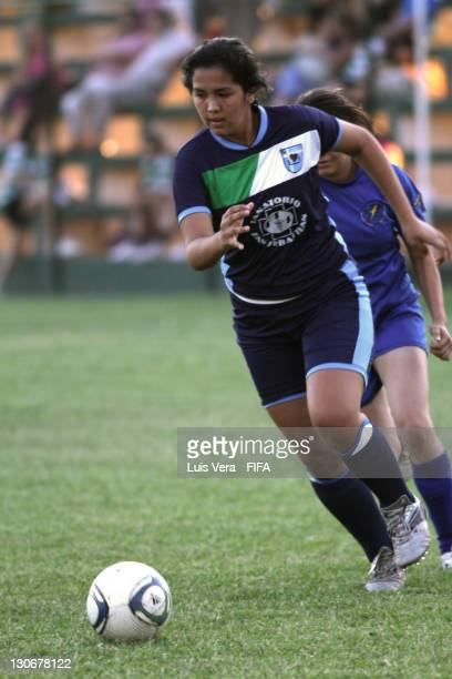 A player of Colegio San Jose in action during the FIFA Women's Football Initiative on October 27 2011 in Asuncion Paraguay