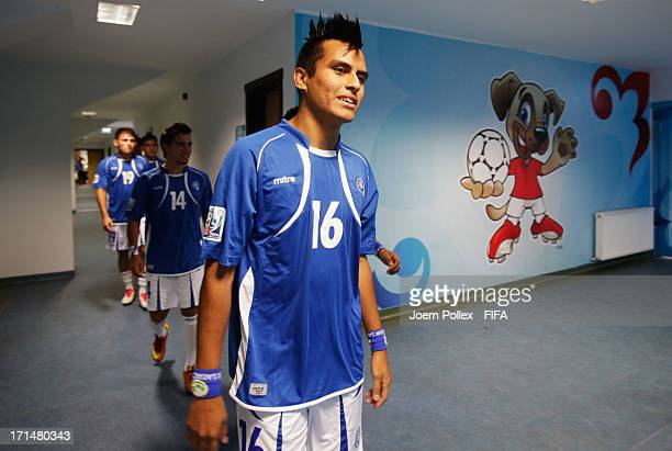 Player of El Salvador are seen prior to the FIFA U20 World Cup Group C match between Australia and El Salvado at Yeni Sehir Stadium on June 25 2013...
