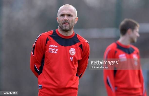 Player of FC Energie Cottbus, Ivica Banovic, attends a training session of the second devision Bundesliga soccer club at the Stadion der Freundschaft...