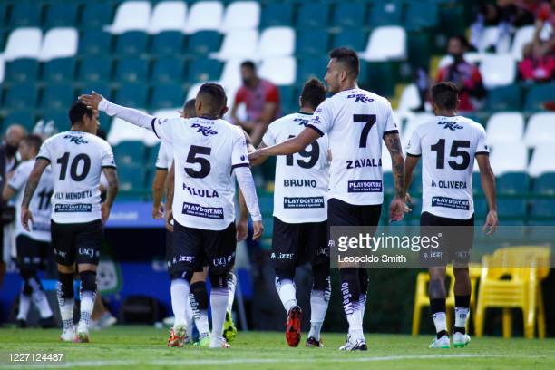 Player of FC Juarez leave the field after the match between Leon and FC Juarez as part of the friendly tournament Copa Telcel at Leon Stadium on July...