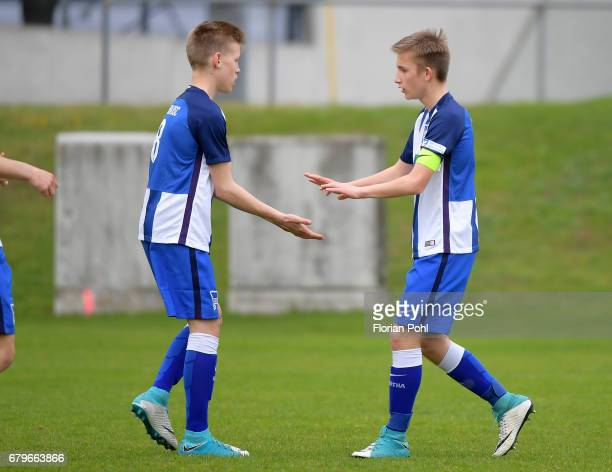 Player of Hertha BSC U14 during the Nike Premier Cup 2017 game on May 6 2017 in Berlin Germany