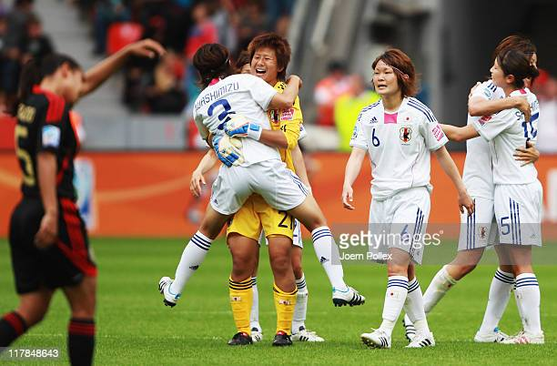 Player of Japan celebrate after the FIFA Women's World Cup 2011 Group B match between Japan and Mexico at BayArena on July 1 2011 in Leverkusen...