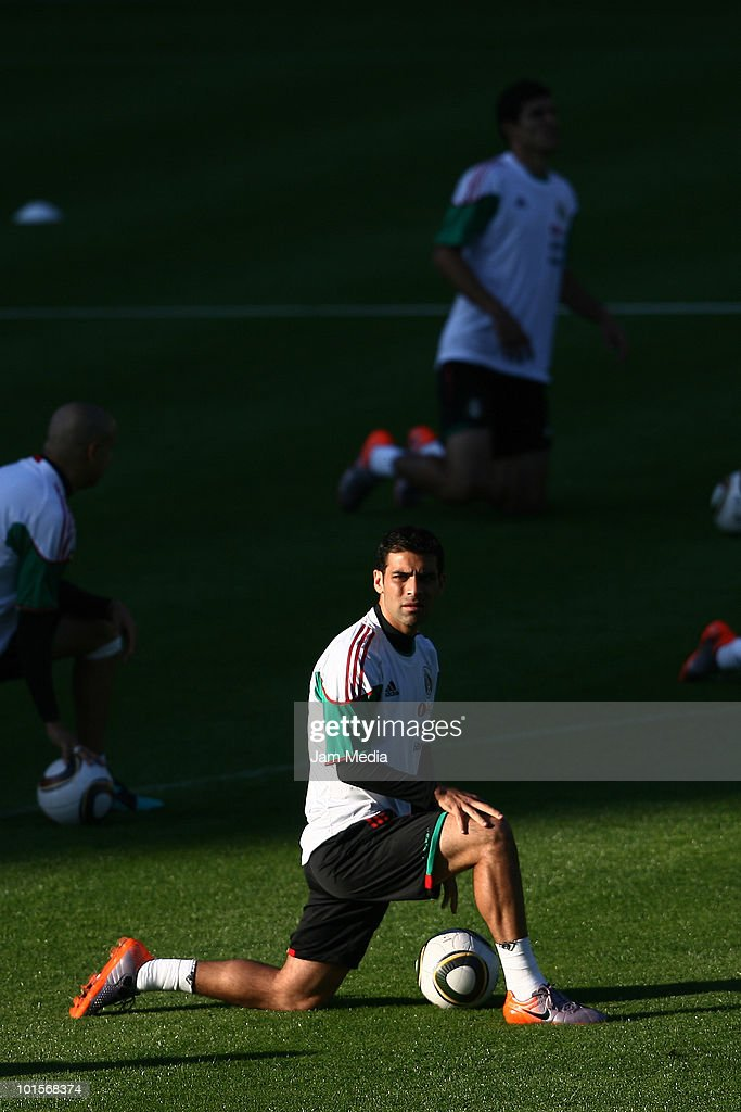 Player of Mexico national team Rafael Marquez during a training session as part of their preparation for FIFA 2010 World Cup at King Baudoin Stadium, on June 2, 2010 in Brussels, Belgium.