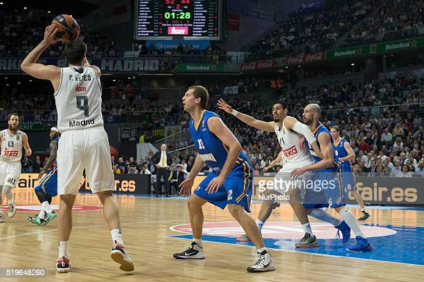 AYN player of Real Madrid during the 20152016 Turkish Airlines Euroleague Basketball Top 16 Round 14 game between Real Madrid v Khimki Moscow Region...