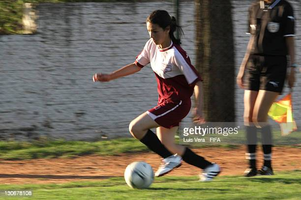 A player of San Luis during the FIFA Women's Football Initiative on October 27 2011 in Asuncion Paraguay
