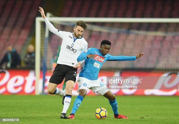 Player of SSC Napoli Amadou Diawara vies with Atalanta BC player Bryan Cristante during the TIM Cup match between SSC Napoli and Atalanta BC on...