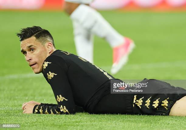 Player of SSC Napoli Jose Callejon stands disappointed during the Serie A match between SSC Napoli and Udinese Calcio at Stadio San Paolo on April 15...