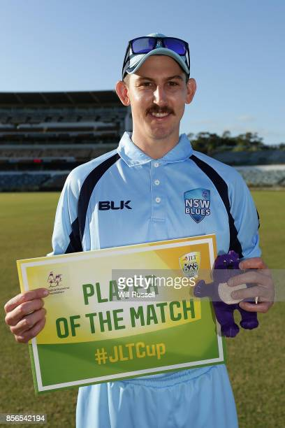 Player of the Match Nic Maddinson of the Blues after the One Day Cup match between New South Wales and Tasmania at WACA on October 2 2017 in Perth...