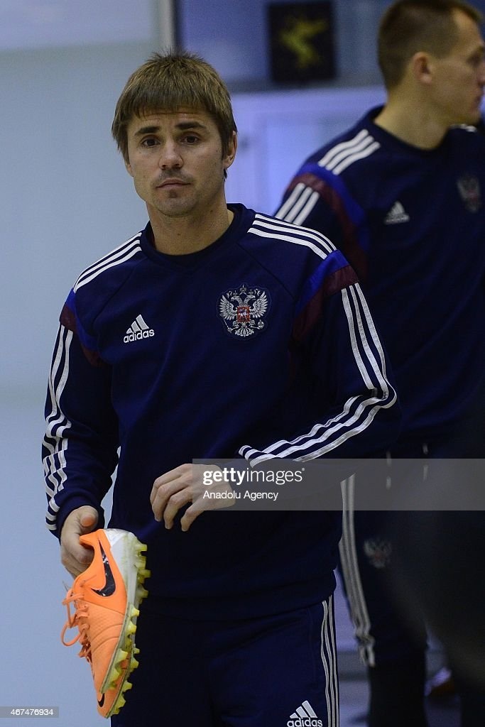 Training session of Russian national soccer team in Moscow