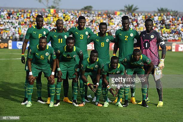 Player of the Senegal's National football team pose during the 2015 African Cup of Nations Group C soccer match between Senegal and Ghana at Mongomo...