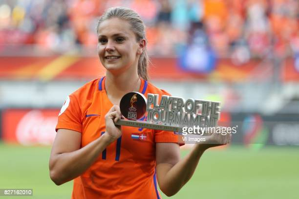 Player of the tournament Lieke Martens of Holland Women during the UEFA WEURO 2017 final match between The Netherlands and Denmark at the Grolsch...