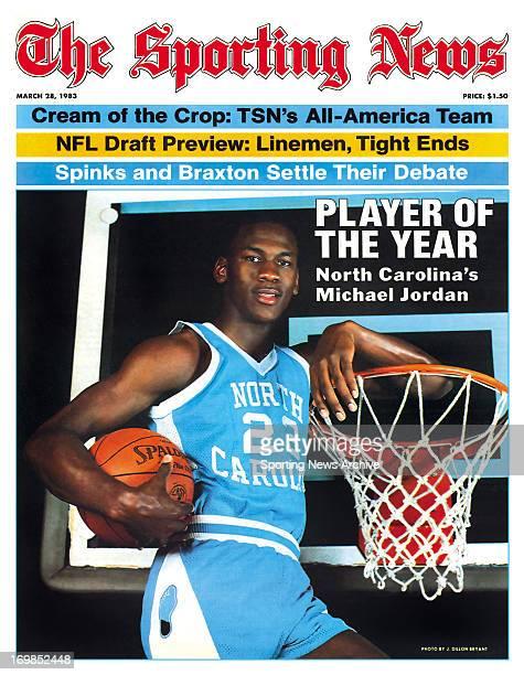 North Carolina Tar Heels' Michael Jordan March 28 1983 Player of the Year North Carolina's Michael Jordan