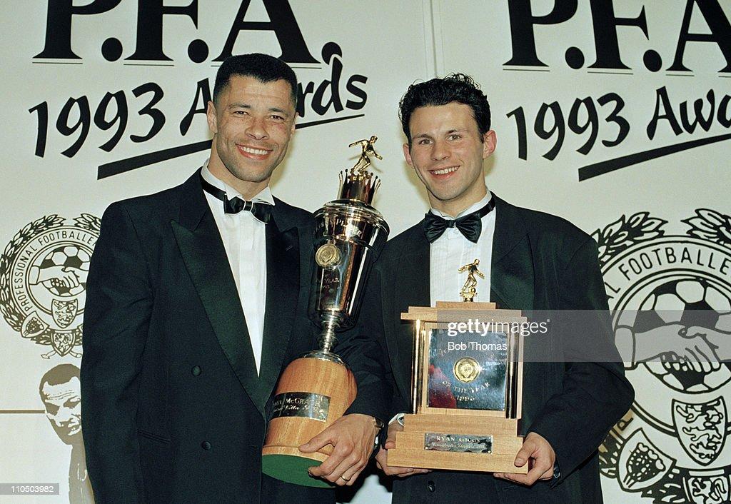 PFA Award Winners  -  Paul McGrath And Ryan Giggs : News Photo
