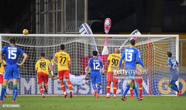 Player of US Sassuolo Domenico Berardi misses a penalty kick during the Serie A match between Benevento Calcio and US Sassuolo at Stadio Ciro...
