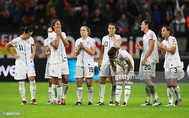 Player of USA look on during the penalty shoot out of the FIFA Women's World Cup Final match between Japan and USA at the FIFA World Cup stadium...