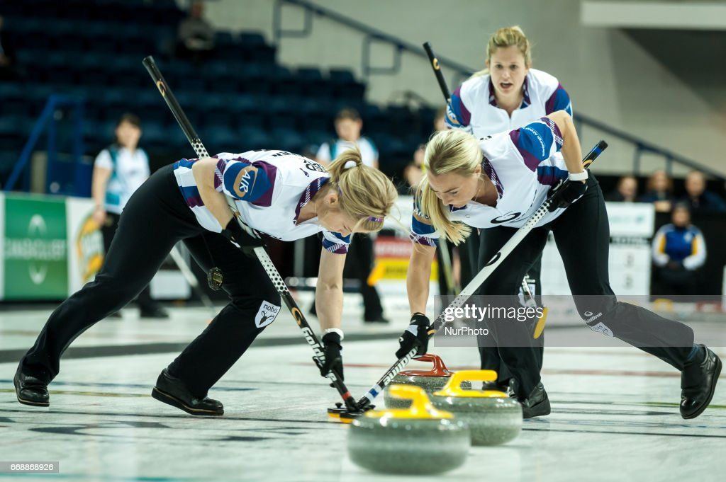 Player on the ice during 2017 WetJet Players Championship which takes place in Ryerson's Mattamy Athletic Centre, in Toronto, Ontario, Canada on April 13, 2017.
