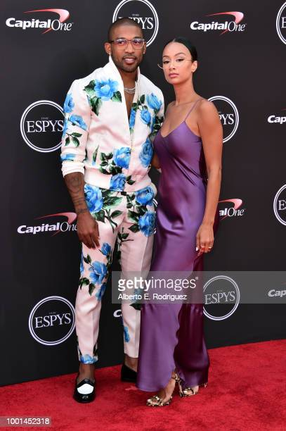 NFL player Orlando Scandrick and actor Draya Michele attend The 2018 ESPYS at Microsoft Theater on July 18 2018 in Los Angeles California
