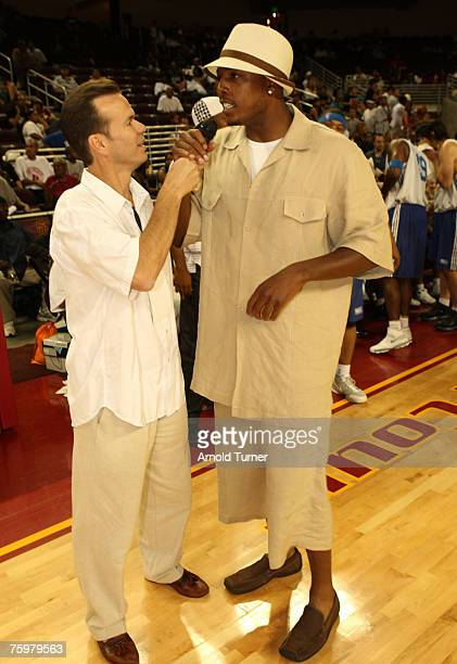 Player Paul Peirce during the LA stars celebrity all star charity weekend celebrity and NBA all star game at USC Galen Center on August 5, 2007 in...