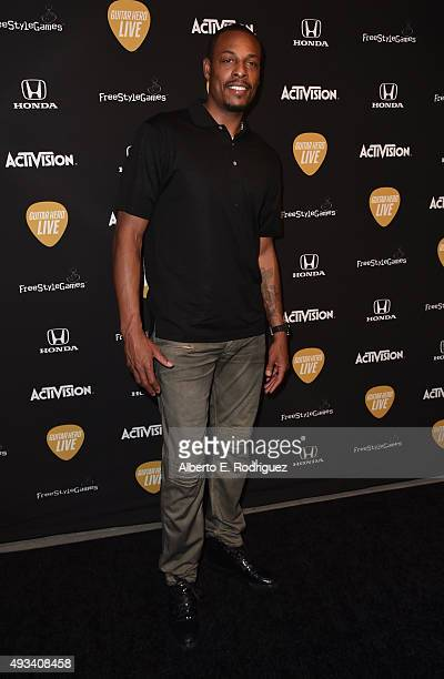 NBA player Paul Pierce attends the Guitar Hero Live Launch Party at YouTube Space LA on October 19 2015 in Los Angeles California