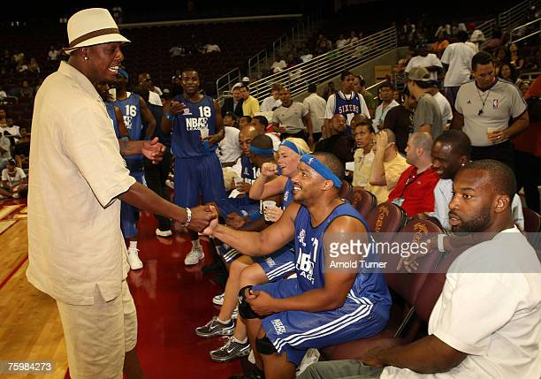 Player Paul Pierce during the LA stars celebrity all star charity weekend celebrity and NBA all star game at USC Galen Center on August 5, 2007 in...