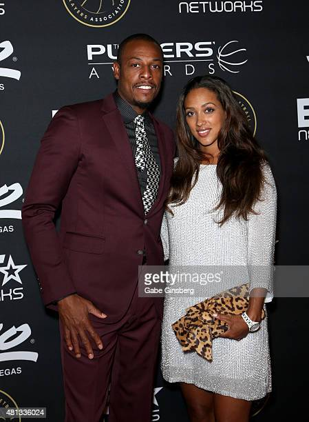 NBA player Paul Pierce of the Los Angeles Clippers and Julie Pierce attend The Players' Awards presented by BET at the Rio Hotel Casino on July 19...