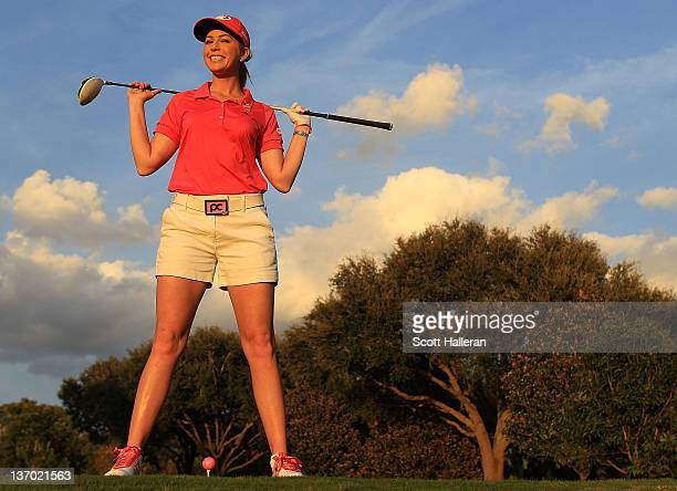 Player Paula Creamer poses for a photograph at her home on January 12, 2012 in Windermere, Florida.