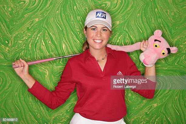 LPGA player Paula Creamer poses for a portrait prior to the start of the Safeway International at Superstition Mountain Golf and Country Club on...